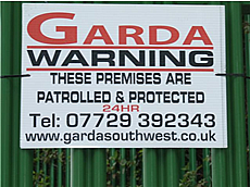 Garda Security Sign - Mobile Manned Guarding Bristol - Mobile Manned Security Patrols